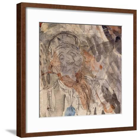 Study of a Lawyer-Honore Daumier-Framed Art Print