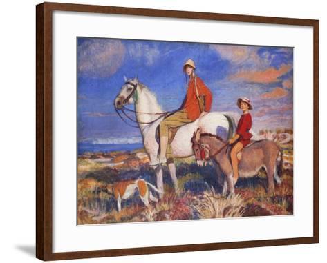 Hilda and Mary at Studland Bay, Dorset-George Spencer Watson-Framed Art Print