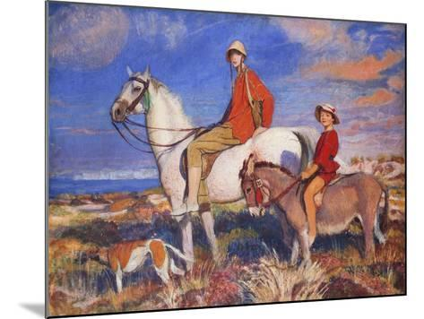 Hilda and Mary at Studland Bay, Dorset-George Spencer Watson-Mounted Giclee Print