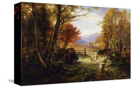 Changing Pastures, Evening-Joseph Farquharson-Stretched Canvas Print