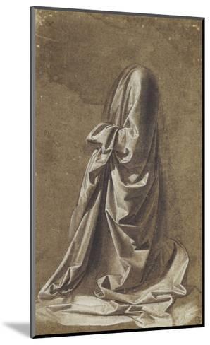 Drapery Study for a kneeling figure-Leonardo da Vinci-Mounted Giclee Print
