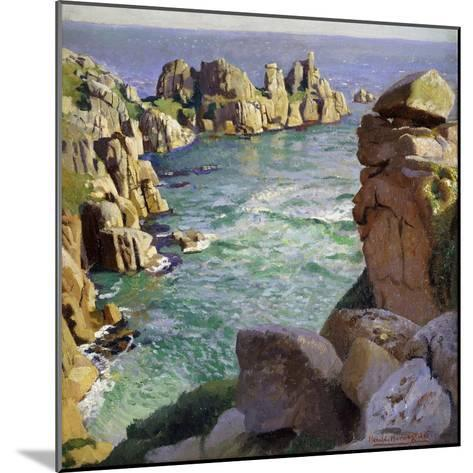 Logans Rock, Porthcurno Beach, Cornwall-Harold		 Harvey-Mounted Giclee Print