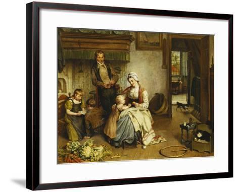 A Family in an Interior-Johannes Petrus Horstok-Framed Art Print