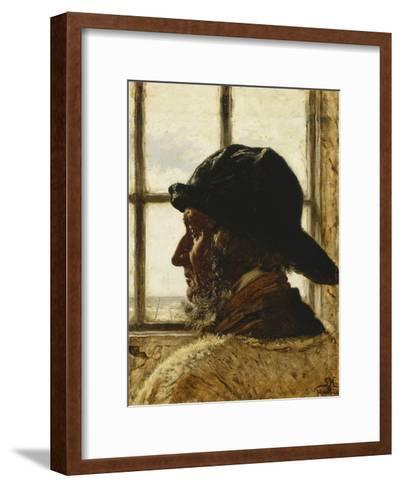 The Old Fisherman-Peder Severin Kr?yer-Framed Art Print