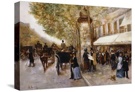 Les Grands Boulevards, Paris-Giovanni Lessi-Stretched Canvas Print