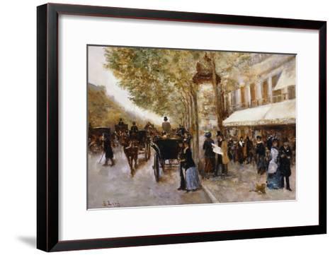 Les Grands Boulevards, Paris-Giovanni Lessi-Framed Art Print