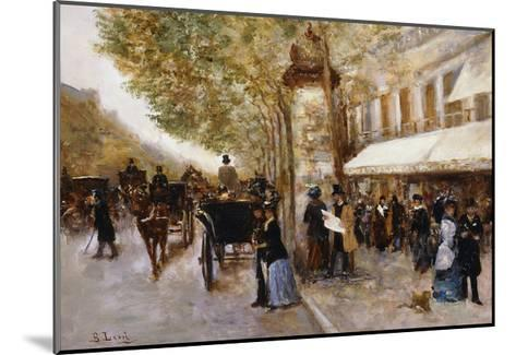 Les Grands Boulevards, Paris-Giovanni Lessi-Mounted Giclee Print