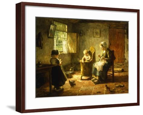 An Idle Afternoon-Evert Pieters-Framed Art Print