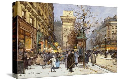 Figures on Le Boulevard St-Eugene Galien-Laloue-Stretched Canvas Print