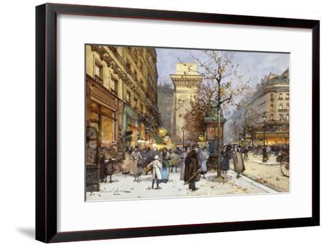 Figures on Le Boulevard St-Eugene Galien-Laloue-Framed Art Print