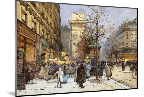 Figures on Le Boulevard St-Eugene Galien-Laloue-Mounted Giclee Print