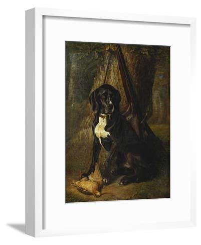 A Gun Dog with a Woodcock-William Hammer-Framed Art Print