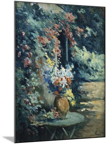 Flowers in a Landscape-Maximilien Luce-Mounted Giclee Print