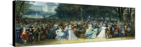 Camille Desmoulins (1760-1794) au Palais Royale-Joseph Navlet-Stretched Canvas Print