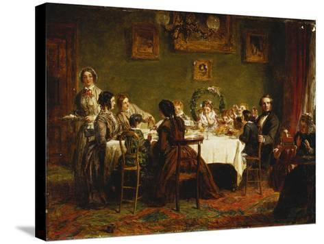 Sketch for 'Many Happy Returns of the Day'-William Powell Frith-Stretched Canvas Print