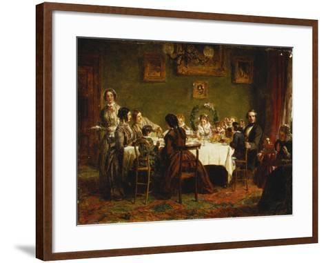 Sketch for 'Many Happy Returns of the Day'-William Powell Frith-Framed Art Print