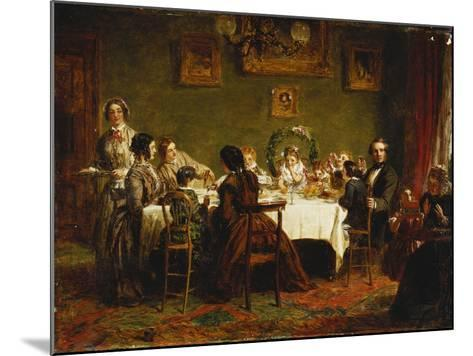 Sketch for 'Many Happy Returns of the Day'-William Powell Frith-Mounted Giclee Print
