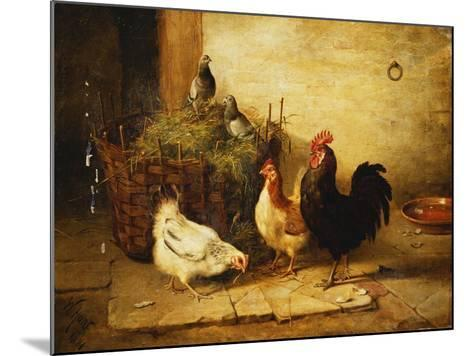 Poultry and Pigeons in an Interior-Walter Hunt-Mounted Giclee Print
