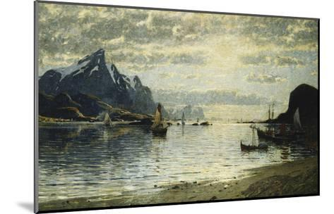 A Fjord Scene with Sailing Vessels-Normann Adelsteen-Mounted Giclee Print