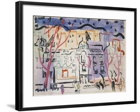 Street Scene, South of France-Christopher Wood-Framed Art Print