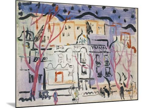 Street Scene, South of France-Christopher Wood-Mounted Giclee Print