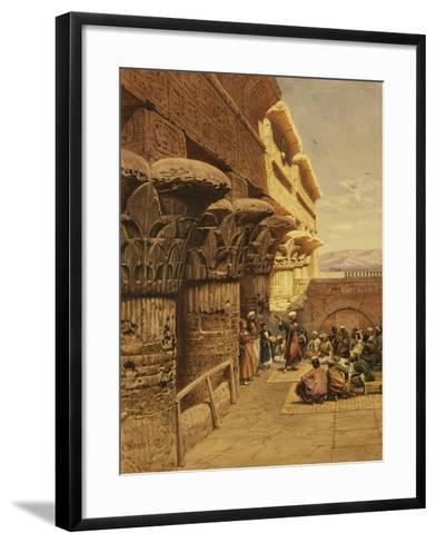 Musicians at Philae-Carl Friedrich Heinrich Werner-Framed Art Print