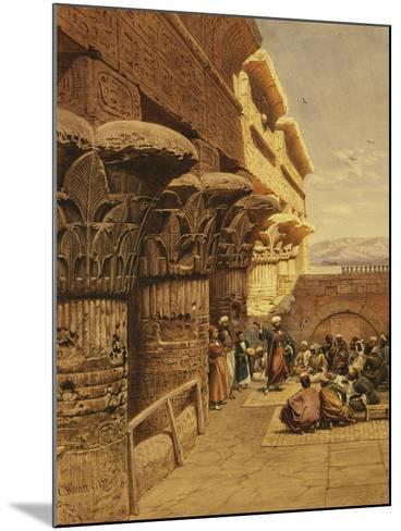 Musicians at Philae-Carl Friedrich Heinrich Werner-Mounted Giclee Print