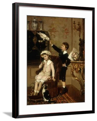 Grandmother's Pets-Albert Roosenboom-Framed Art Print