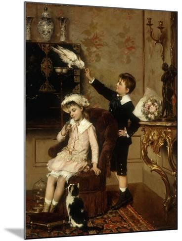 Grandmother's Pets-Albert Roosenboom-Mounted Giclee Print