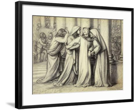 The Virgin Mary being Comforted-Dante Gabriel Rossetti-Framed Art Print