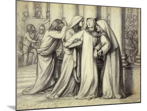 The Virgin Mary being Comforted-Dante Gabriel Rossetti-Mounted Giclee Print