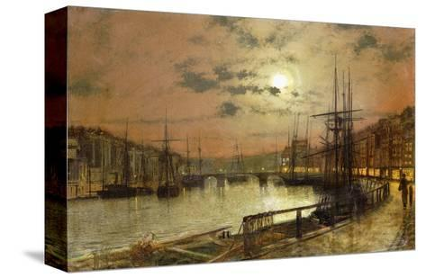Whitby-John Atkinson Grimshaw-Stretched Canvas Print