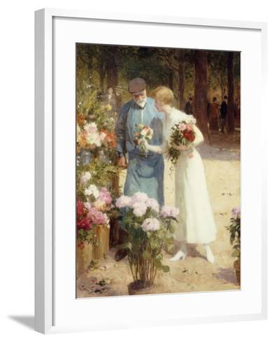 A Flower Market-Victor Gabriel Gilbert-Framed Art Print