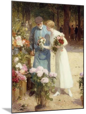 A Flower Market-Victor Gabriel Gilbert-Mounted Giclee Print