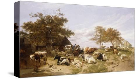 A Dairy Farm on the Marshes, East Kent-Thomas Sidney		 Cooper-Stretched Canvas Print