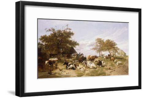 A Dairy Farm on the Marshes, East Kent-Thomas Sidney		 Cooper-Framed Art Print