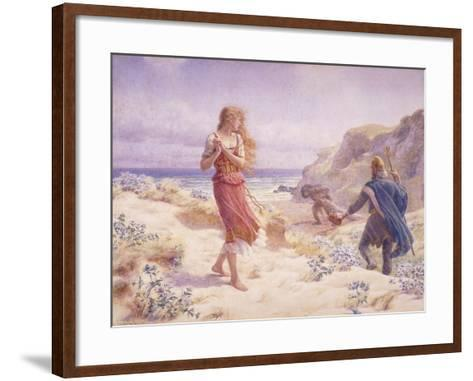 A Stranger in their Midst-A. Foord Hughes-Framed Art Print