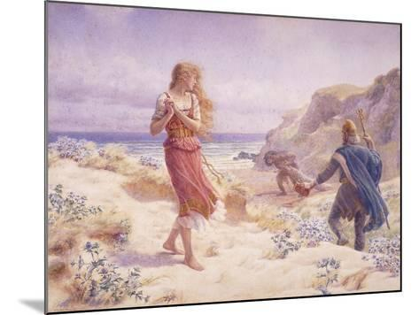 A Stranger in their Midst-A. Foord Hughes-Mounted Giclee Print
