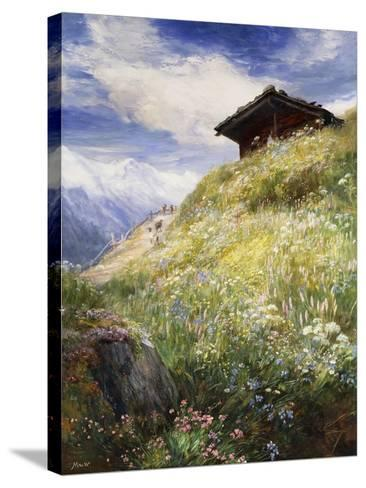 An Alpine Meadow, Switzerland-John MacWhirter-Stretched Canvas Print