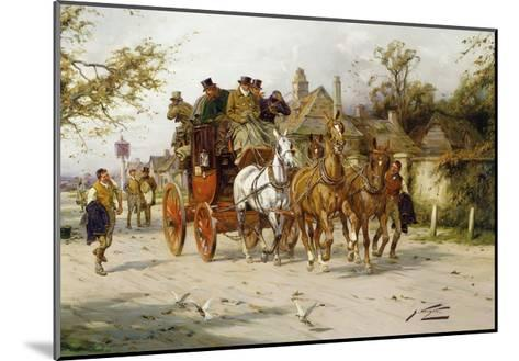 The Oxford to London Mail-George Wright-Mounted Giclee Print