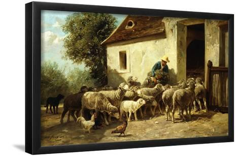 Returning Home-Charles Emile Jacque-Framed Art Print