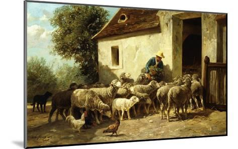 Returning Home-Charles Emile Jacque-Mounted Giclee Print