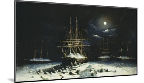 H.M.S Resolute, Assistance, Intrepid and Pioneer wintering in the Arctic, 1850-51--Mounted Giclee Print