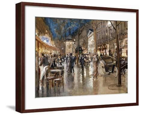 Evening on a Parisian Boulevard-Stein Georges-Framed Art Print