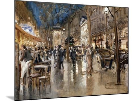 Evening on a Parisian Boulevard-Stein Georges-Mounted Giclee Print