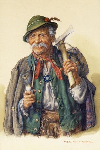 Woodcutters, Mountaineers and Hunters-Peter Kraemer-Stretched Canvas Print