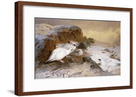 Ptarmigan in the Snow-Archibald Thorburn-Framed Art Print
