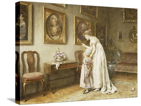 A Little Family History-George Goodwin Kilburne-Stretched Canvas Print