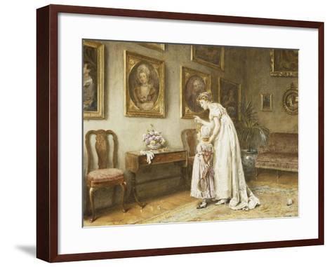 A Little Family History-George Goodwin Kilburne-Framed Art Print