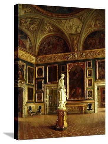 A room in the Pitti Palace-Costa Oreste-Stretched Canvas Print